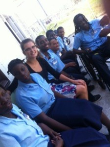Meeting students at the Open Doors Centre in Georgetown, Guyana