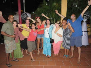 With other volunteers first night in Guyana