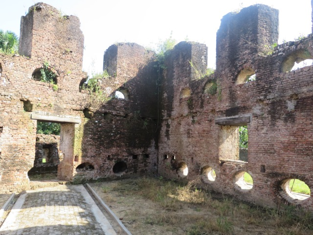 Walking through the ruins of Fort Zeelandia, one of the oldest places in Guyana
