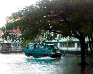 Heavy rains in Guyana