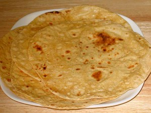 Mmmm fresh roti! Photo credit: Roti (Chapati) Recipe by Manjula