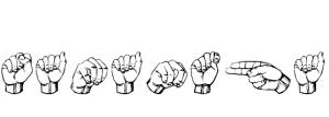 My name, Samantha, in sign language